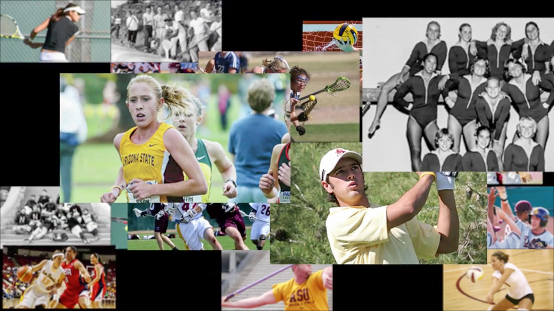 Sports image collage
